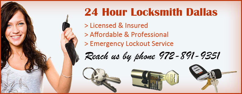24 Hour Locksmith Dallas Banner