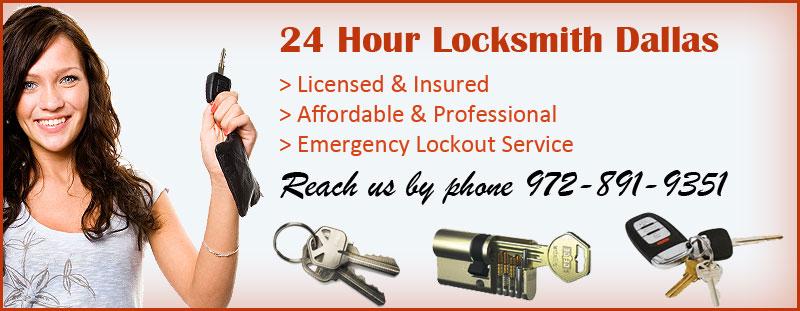 24 Hour Locksmith Dallas Banner